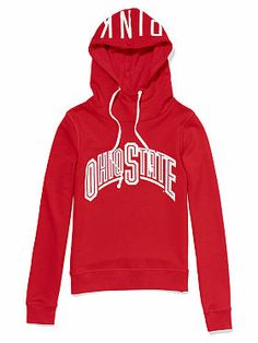 Victoria's Secret: The Ohio State University Bling Funnel-neck Hoodie .... I need this! Too cute!!