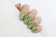 You don't need to hug trees to show your love of the planet, you can just paint them on your nails. We also think this nail design from Mari's Nail Polish Blog would be perfect for a spring or summer wedding. They look so elegant!