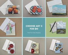 10 Atlas Blank Greeting Christmas Birthday Cards Design your own A5//A6