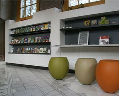 Information Centre Veenhuizen I like the stools - brings in colours of the outback