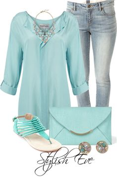 """Untitled #3276"" by stylisheve on Polyvore *I would pair it with darker jeans though*"