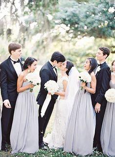 Classic done oh-so-right. Bridesmaid Dresses: Donna Morgan - donna-morgan.com