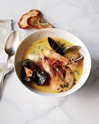 In coastal Provence, cooks use the freshest seafood for this stew, which is enriched at the last minute with a creamy aioli. This recipe comes from San Francisco chef Mark Sullivan, who staged at a restaurant in Marseilles when he was in his twenties; the experience influences his cooking to this day.  Slideshow: Provençal Recipes