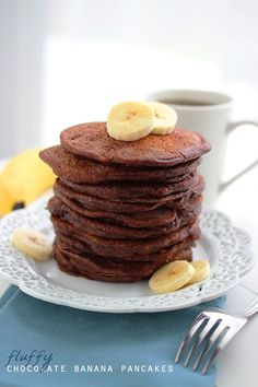The Comfort of Cooking » Fluffy Chocolate Banana Pancakes
