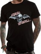 Officially licensed Avenged Sevenfold t-shirt design printed on a Black 100% cotton short sleeved T-shirt.
