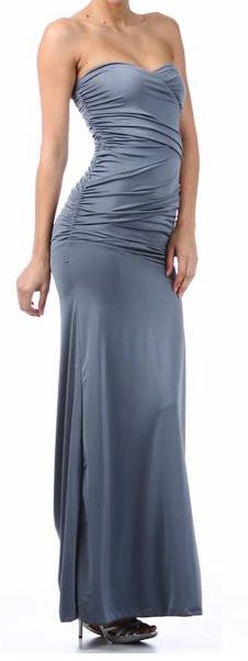 Sexy Strapless Evening Gown – Butterfly Boutique