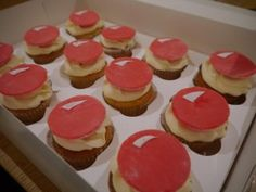 Some super easy red nose cupcakes for Sport Relief or Red Nose Day. This would also work on iced cookies. How To Make Cupcakes, Cute Cupcakes, Red Nose Day Cupcakes, Bake Sale Recipes, Cupcake Images, Cupcake Heaven, Cupcake Recipes, Cupcake Ideas, Iced Cookies