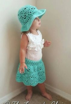 Lacy Shells Skirt - Free Crochet Pattern - The Lavender Chair
