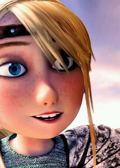 Astrid is one pretty Viking girl with beautiful blue eyes; it's no wonder Hiccup chose her to be his crush- or, it could also involve the fact that Ruffnut was his only other option for a girlfriend! lol ;)