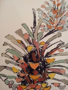 a good pinecone from the Adult Art Class at Faux Arts