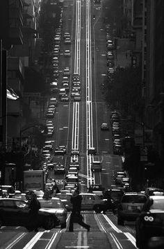City streets.
