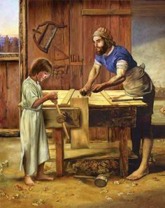 St Joseph and the boy Jesus