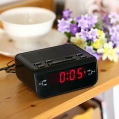 >> Click to Buy << Mini Portable Compact Digital Alarm Clock FM Radio with Dual Alarm Buzzer Snooze Sleep Timer Red LED Time Display Clock #Affiliate