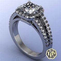 #nofliter #engagement #halo #princesscut #diamonds #round #brilliant #custom #womens #ring #whitegold #marriage #ido #sayyes #proposal #love #luxury #gold #chic #elegant #jewelry #hers #perfection