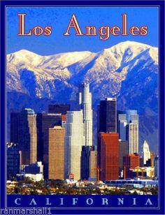 Los Angeles California United States of America Travel Poster Art Advertisement Cruise Door, Places In California, Los Angeles California, Travel Posters, Screens, Pop Art, Advertising, United States, Art Prints