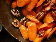 Glazed Carrots with Pecans
