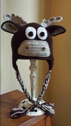 Bullwinkle the moose Crochet Projects, Moose, Crochet Hats, Knitting Hats, Mousse, Elk