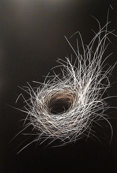 Mitchell Lonas, incised aluminium panel, nest. Someday I'll have a nest for my nest above the fire place.