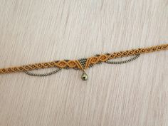 Bell Choker / Bell Necklace / Bohemian Choker / Macrame Choker / Macrame Necklace / Hair Piece / Macrame Choker / Micro Macrame Jewelry