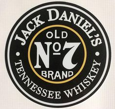 Jack Daniels Old No. 7 Tennessee Whiskey Tin Tacker Sign NEW. Jack Daniels Logo, Jack Daniels Whiskey, Retro, Cigars And Whiskey, Whisky, Vintage Metal Signs, Old Signs, Vintage Posters, Harley Davidson