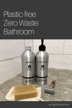 Earth-friendly swaps for a eco-friendly and zero waste bathroom. Plastic-free shampoo, bamboo toothbrushes, bidets, tooth powder and plastic-free toothpaste, conditioner bars, safety razors, cruelty-free makeup, vegan skincare, plastic-free products, natural handmade soaps, and more. Check out these ideas. You can shop zero waste online in the USA at Eco Girl Shop