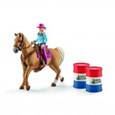 Find Schleich Barrel Racing with Cowgirl Playset in the Farm Toys category at Tractor Supply Co.Create your own rodeo fun with the Schleich Barr Schleich Set, Figurine Schleich, Schleich Horses Stable, Horse Stables, Toy Horse Stable, Rodeo, Riding Cowgirl, Bryer Horses, Barrel Racing Horses
