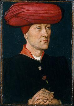 Portrait of a Man in a Turban  Netherlandish Painter, second quarter 15th century     Medium: