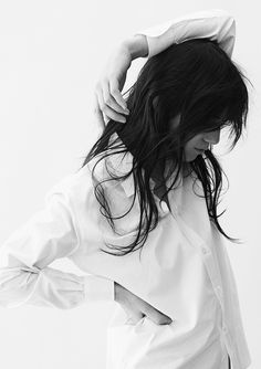 Charlotte Gainsbourg in a classic white button down