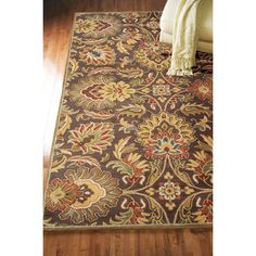 Hand-tufted Grand Chocolate Brown Floral Wool Rug (8' x 11') | Overstock.com Shopping - Great Deals on INSTEN 7x9 - 10x14 Rugs