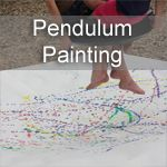 It isPaint and Play time again! I am really enjoying this fun series that I am doing with Crystal fromGrowing A Jeweled Rose. The focus for our series is all about the process, having fun and getting kidsexcitedto create art! This week we challenged each other to create Pendulum Art