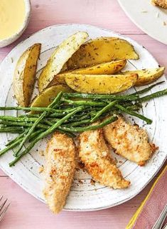 Cajun Delicacies Is A Lot More Than Just Yet Another Food Super Easy Parmesan Chicken Tenders With Rosemary Fries, Green Beans, And Honey Mustard Sauce More Kid-Friendly Recipes On Dinner Entrees, Dinner Recipes, Hello Fresh Recipes, Hello Fresh Meals, Parmesan Chicken Tenders, Beans In Crockpot, Clean Eating, Healthy Eating, Chicken Tender Recipes