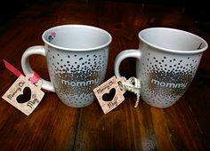 Keep Calm & Mommy On Polka Dot Mug by LoveandLaceBlvd on Etsy