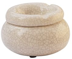 Moroccan Round Ashtray 4' Crackle Ceramic Ash Tray with 3 Cigarette Holder Slots >>> Check out the image by visiting the link.