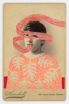 Paper Collage Art, Illustration Artists, Vintage Photographs, Pattern Paper, Mixed Media Art, Amazing Art, Printmaking, Cool Art, Doodles