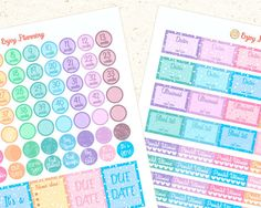 Pregnancy PRINTABlE Planner Stickers Pregnancy by EnjoyPlanning