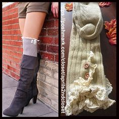 Tall Over The Knee Boot Socks NEW WITH TAGS Tall Over The Knee Boot Socks Thigh High  * Super soft & cozy, textured/ribbed fabric; Winter weight warmth  * Over the knee length & thigh high w/crochet cuffs & button details  * Tagged one size fits most  * Incredible quality Fabric:Acrylic, Polyester & Spandex Color:Natural ***The model is wearing a similar style for styling purposes only; socks for sale are thicker. 91700 No Trades ✅Offers Considered*/Bundle Discounts✅ *Please use the 'offer'…
