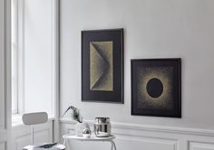 """Black Sun"" Limited edition art prints with thousands of golden dots on black paper by Kristina Krogh – www.kkrogh.dk"
