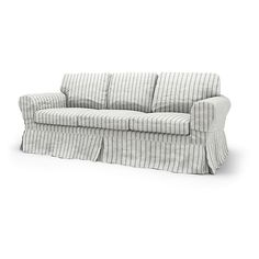 Ektorp, Sofa Covers, 3 Seater, Loose Fit Country using the fabric Brera Fino Cloud