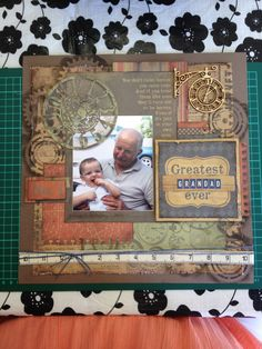 Grandad Scrapbooking Layout idea