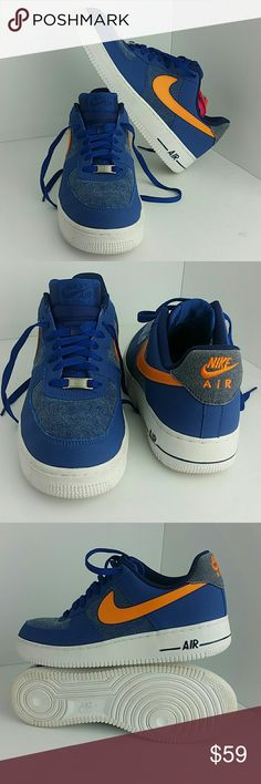 NIKE AIR FORCE 1 STORM BLUE MEN'S SHOES VERY CLEAN INSIDE-OUT   SKE # AA NIKE  Shoes Athletic Shoes