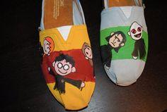 My daughter's custom Harry Potter TOMS