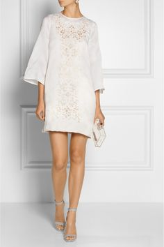 Dolce & Gabbana | Embroidered silk-blend organza mini dress $3,325