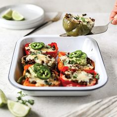 Cheese Stuffed Peppers, Taco Seasoning, Caprese Salad, Cheddar Cheese, Ground Beef, Beans, Easy Meals, Veggies, Nutrition