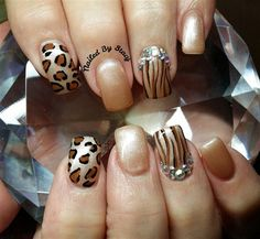 ♥Embellished Animal Print Nail Art ● NAILS Magazine