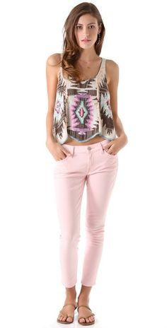 LOVE this whole look...Free People Crystallized Embroidered Tank