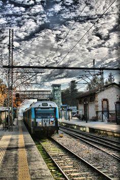 Railway station of Acharnes, Athens, Attica Greece Attica Greece, Athens Greece, My Athens, Places In Greece, Visit Turkey, Train Tracks, Greece Travel, Greek Islands, Scenery