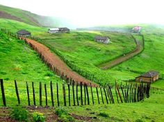 Gilan,Iran This looks like Ireland! Places To Travel, Places To See, Tourist Places, Iran Tourism, Iran Travel, Persian Culture, Largest Countries, Architecture, Beautiful Places