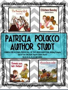 essays on patricia polacco Mr wayne's masterpi | young patricia can't read her essays aloud in front of the class, no matter how much kind encouragement her teacher, mr t, gives her.