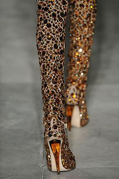 Hadascha's Runway: Alexander Mcqueen Jewel-Encrusted Thigh-High boots & a little more