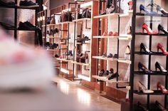 shoes flagship store in Bucharest by Glmashops Bucharest, Visual Merchandising, Store Design, Shoes, Home Decor, Zapatos, Decoration Home, Shoes Outlet, Room Decor
